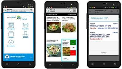App movilidad  integrado con ERP Alimentacion en Cloud