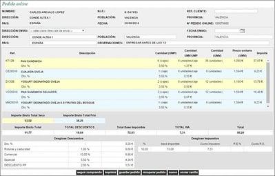PORTAL E-COMMERCE  integrado con ERP Alimentacion