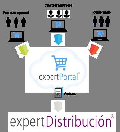 PORTAL E-COMMERCE ecommerce integrado con ERP Cloud sector Distribucion