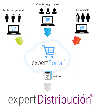 PORTAL E-COMMERCE ecommerce integrado con ERP Cloud sector Distribucion