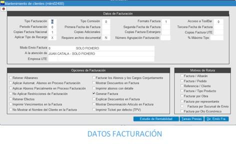 datos facturacion