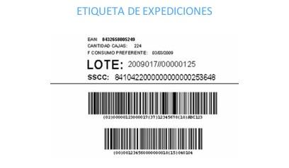 etiqueta de expediciones