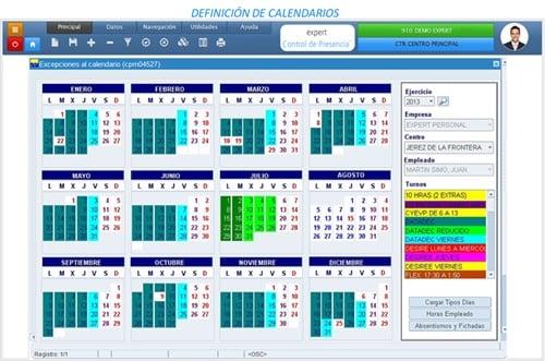 definición de calendarios
