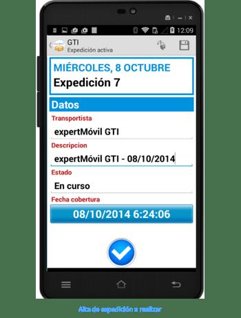 Funcionalidades app gti - Creacion expediciones