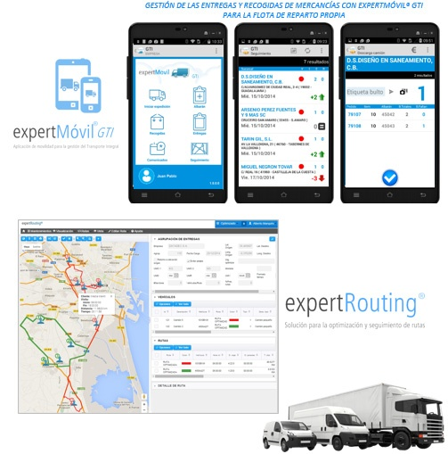 gestion del transporte integrado con  ERP Mueble en Cloud