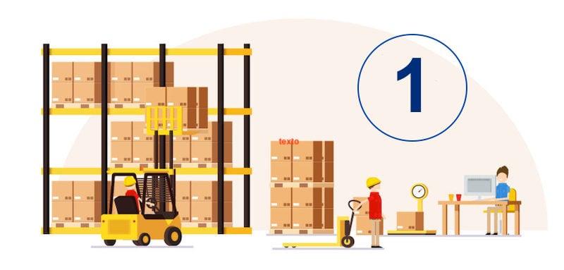 Zonas de picking en la gestion de expedicion de almacenes