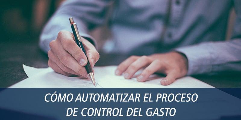 automatizar control gasto