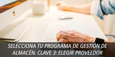 selecciona programa gestion clave 3