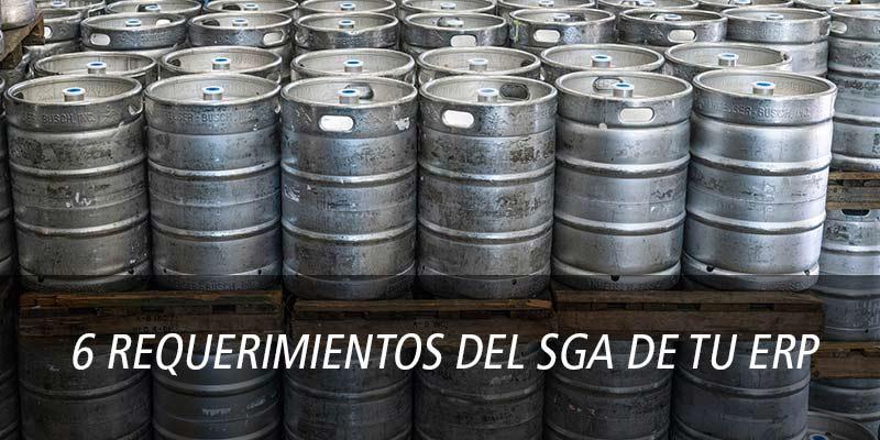 6 REQUERIMIENTOS DEL SGA (gestión avanzada de almacenes)