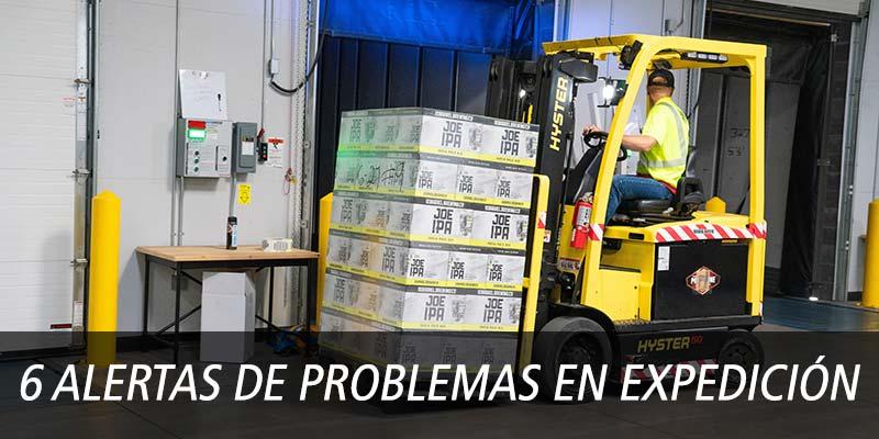6 ALERTAS DE PROBLEMAS EN EXPEDICIÓN