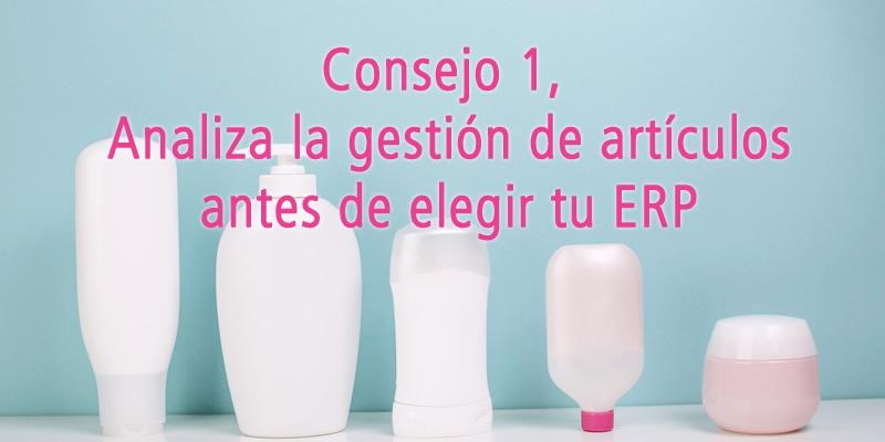 CONSEJO 1, ANALIZA LA GESTIÓN DE ARTÍCULOS ANTES DE ELEGIR TU ERP