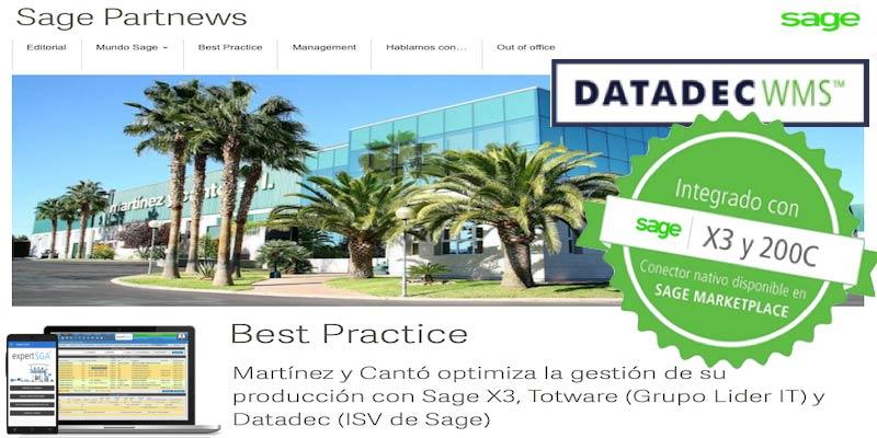 MULTIPLICA EL VALOR DE SAGE X3 CON EL SGA DE DATADEC